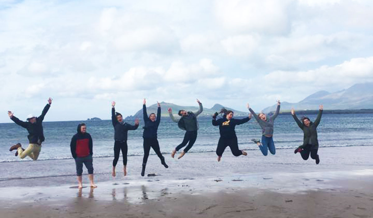 Students touring in Ireland